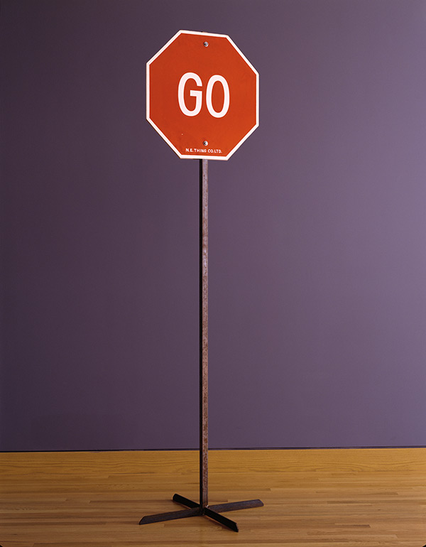 N.E. THING CO., Go (in the shape of a Stop Sign), 1970